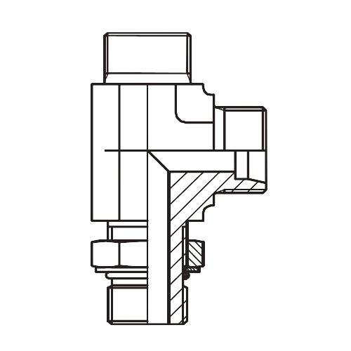 LEE-UNF - hydraulická stavitelná L spojka s pojistnou maticí
