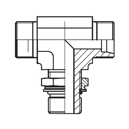 TEE-OR - hydraulická stavitelná T spojka s pojistnou maticí