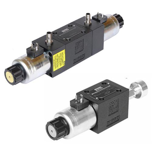 Hydraulické rozvaděče nepřímo řízené s indukčním snímaním poloh