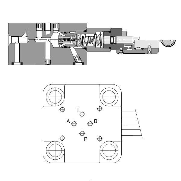 C_E - hydraulicky ovládaný sedadlový ventil