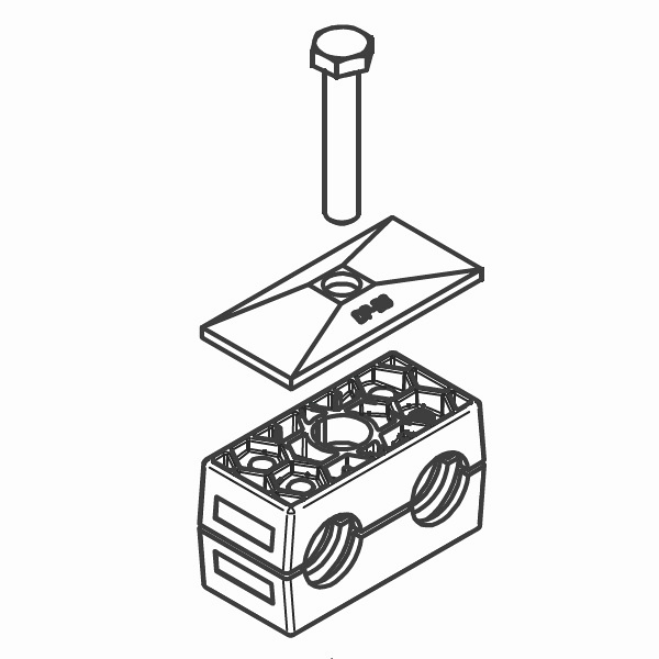 RBP16 - dvojité příchytky trubek série B kompletní sada