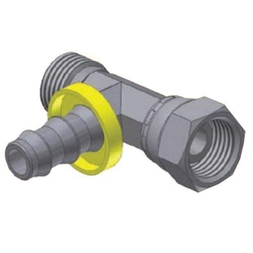 DP - Push-Lok koncovka T nástrčná s hadicovým nátrubkem