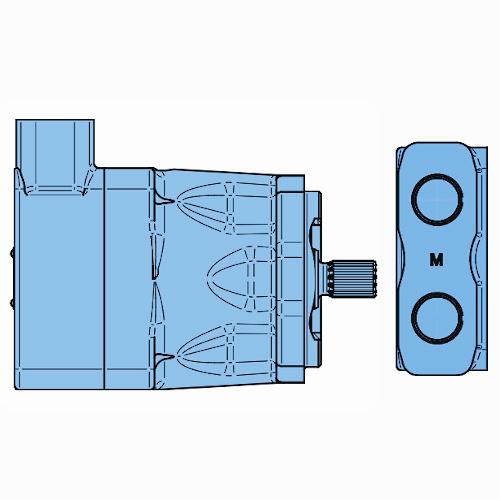 Mobilní lamelové motory Denison do 350bar M5BF-M5BF1