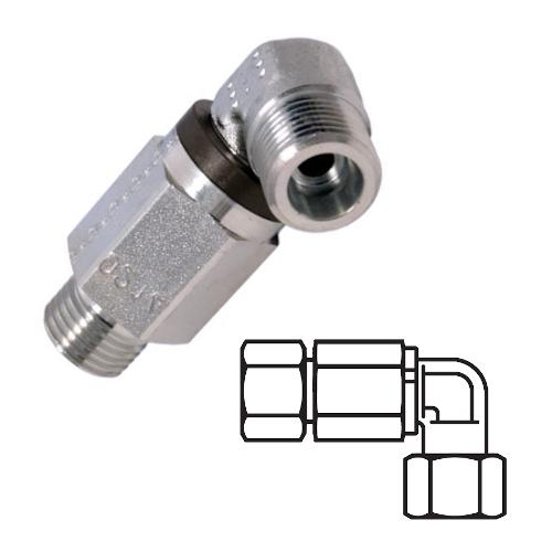 DG 103 - hydraulické 90°ůhlové rotační šroubení s ložiskem