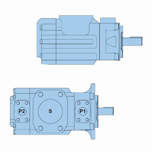 Průmyslová lamelová dvojitá čerpadla T67CB
