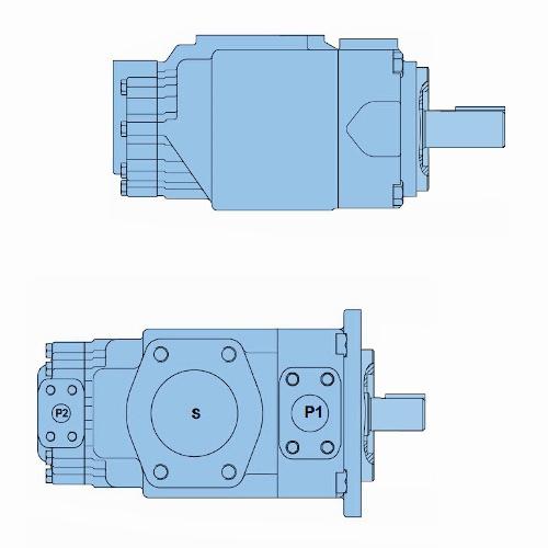 Průmyslová lamelová dvojitá čerpadla T67EC