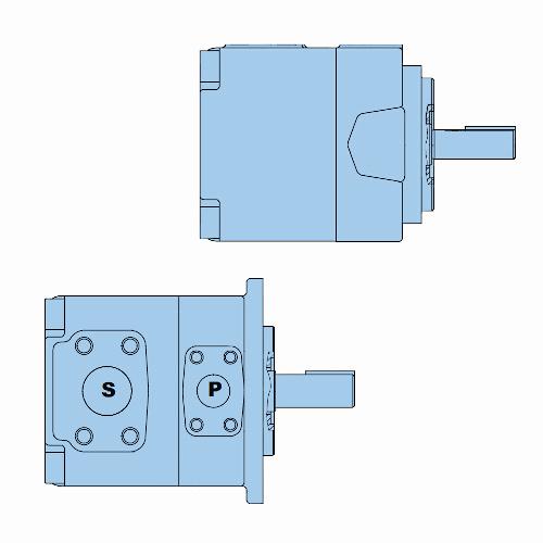Průmyslová lamelová samostatná čerpadla T7B-T7BS
