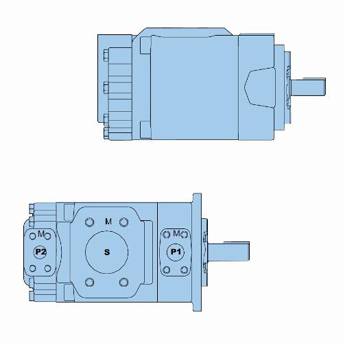 Průmyslová lamelová dvojitá čerpadla T7BB-T7BBS