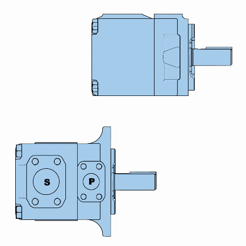 Průmyslová lamelová samostatná čerpadla T7D-T7DS