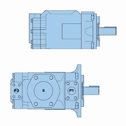 Průmyslová lamelová dvojitá čerpadla T7DB-T7DBS