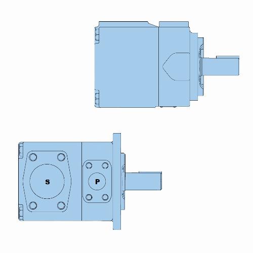 Průmyslová lamelová samostatná čerpadla T7E-T7ES