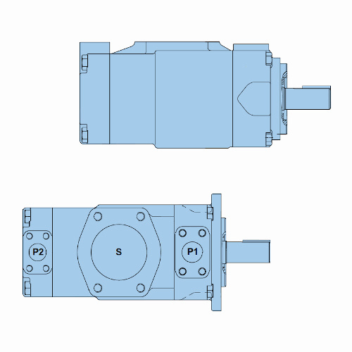Průmyslová lamelová dvojitá čerpadla T7ED-T7EDS