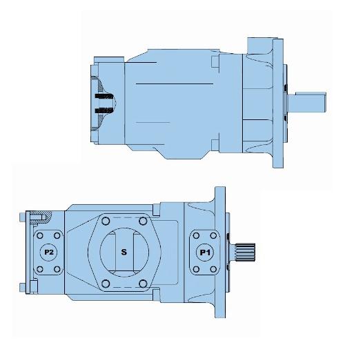 Průmyslová lamelová dvojitá čerpadla T7EE-T7EES
