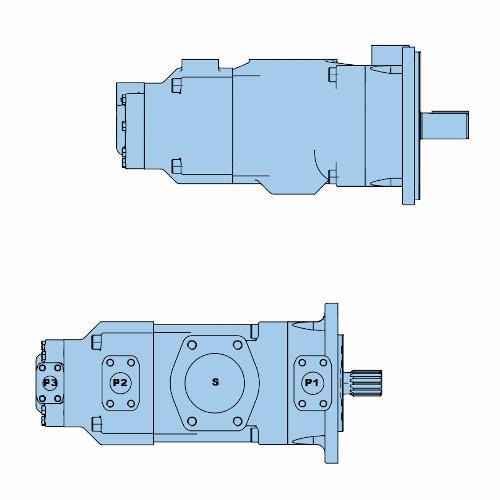 Průmyslová lamelová trojitá čerpadla T7EEC-T7EECS