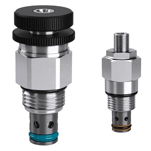 Jehlové průtokové ventily s regulací tlaku