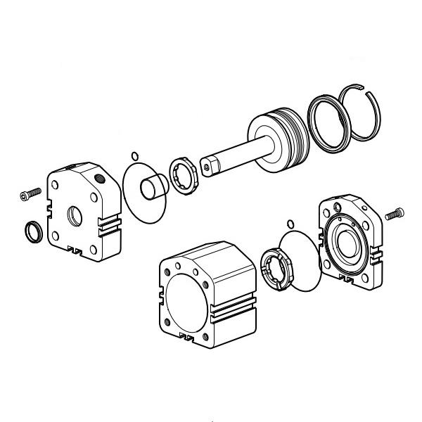 Kompletní sady těsnění pro pneumatické válce P1M