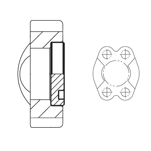 PFMQ - hydraulické vysokotlaké příruby koncové