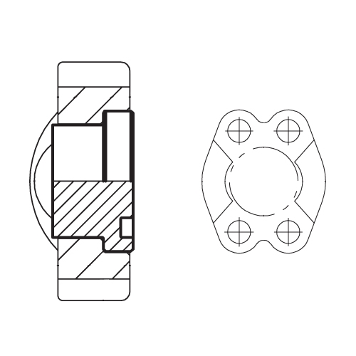 PMQ - hydraulické vysokotlaké příruby koncové