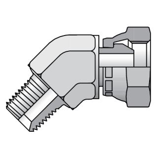 Adaptér 45° swivel