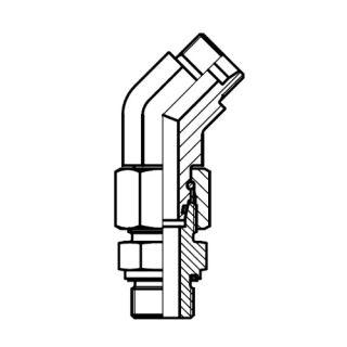 Hydraulická přípojka 45° EV-R-ED