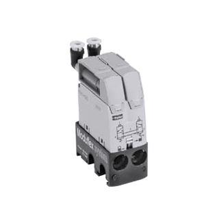 Dvojčinný pneumatický ventil pro základní moduly