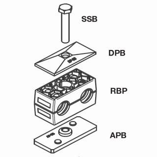 Komplet příchytka a držák trubky RBP1