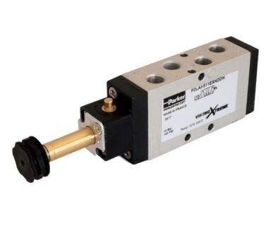 """Pneumatický ventil G1/8"""", 5/2, elektricky/pružina, 10 bar"""