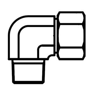 Hydraulické WE-R(KEG) hrdlo koleno s maticí