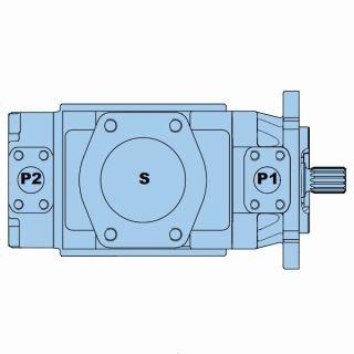 Lamelové dvojité čerpadlo T7DD-T7DDS