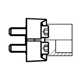 Hydraulický vysokotlaký 90°ůhlový adaptér příruby ES