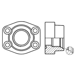 Hydraulická vysokotlaká příruba celá PAFS-M