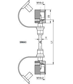 Měřící vysokotlaká hadice SMA3