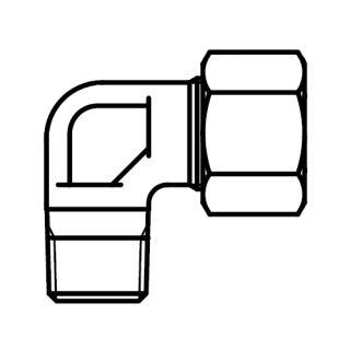 Hydraulické WE-NPT hrdlo koleno s maticí