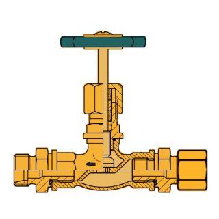 MOSAZ uzavírací DV ventil