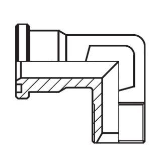 Hydraulický vysokotlaký 90° adaptér příruby WFS-G