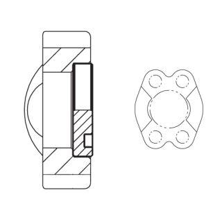 Hydraulická vysokotlaká příruba koncová PFMQ