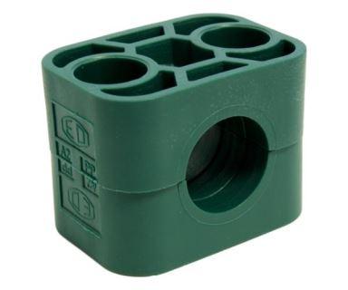 Držák trubky 10mm, polypropylen, série A, velikost 1, DIN 3015
